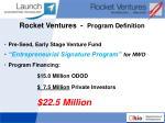 rocket ventures program definition