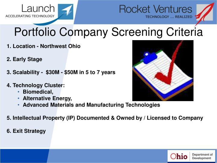 Portfolio Company Screening Criteria