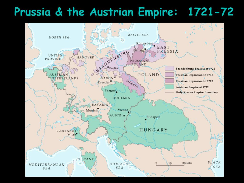 Prussia & the Austrian Empire:  1721-72