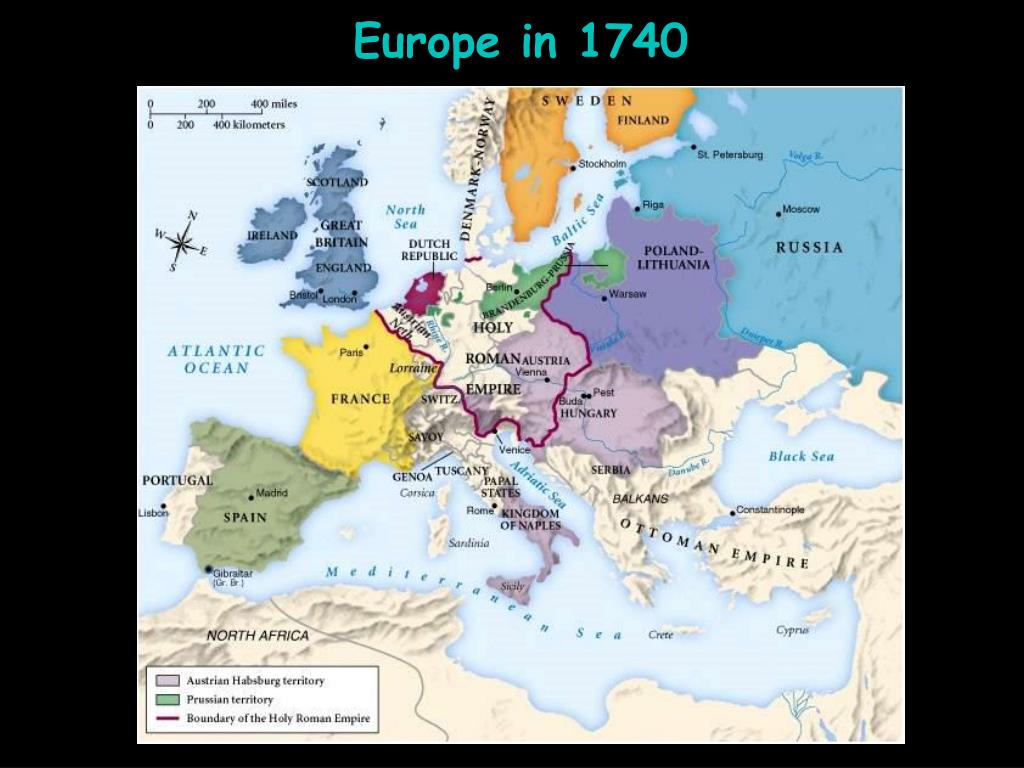 Europe in 1740
