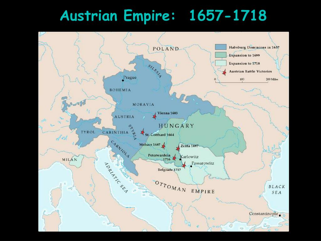 Austrian Empire:  1657-1718