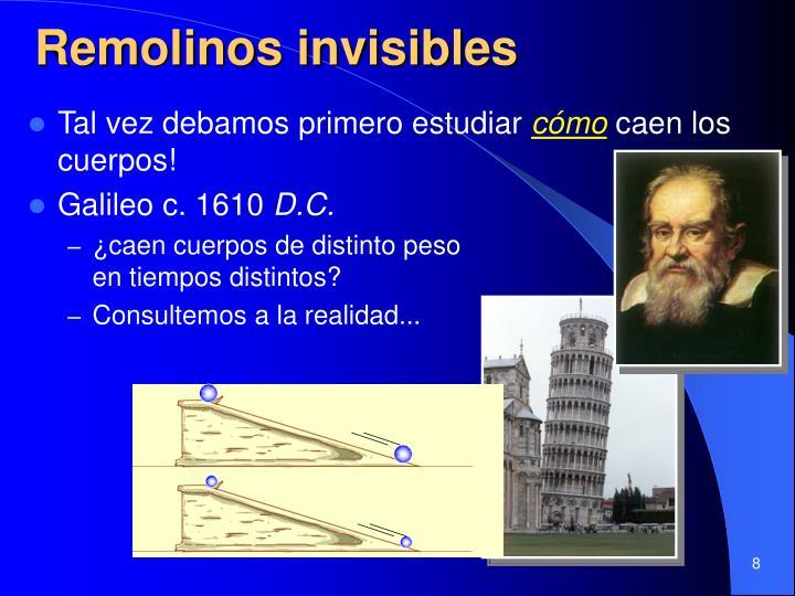 Remolinos invisibles