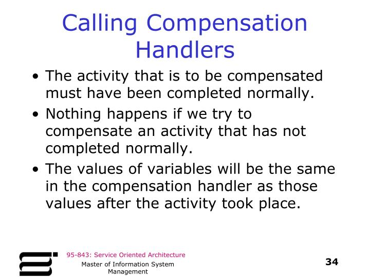 Calling Compensation Handlers