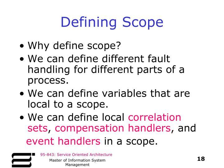 Defining Scope