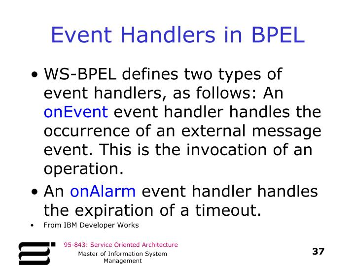 Event Handlers in BPEL