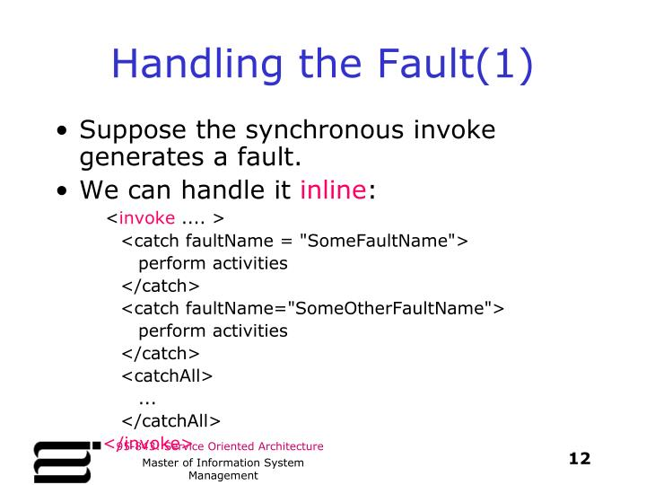 Handling the Fault(1)