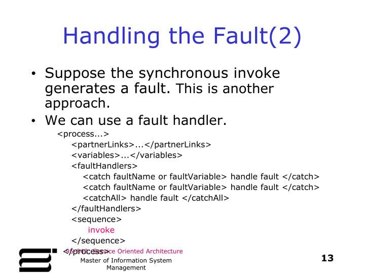 Handling the Fault(2)