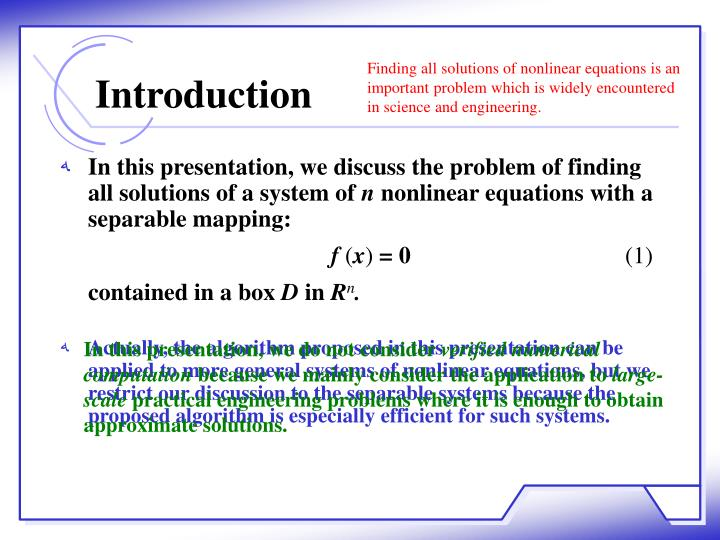 In this presentation, we discuss the problem of finding all solutions of a system of