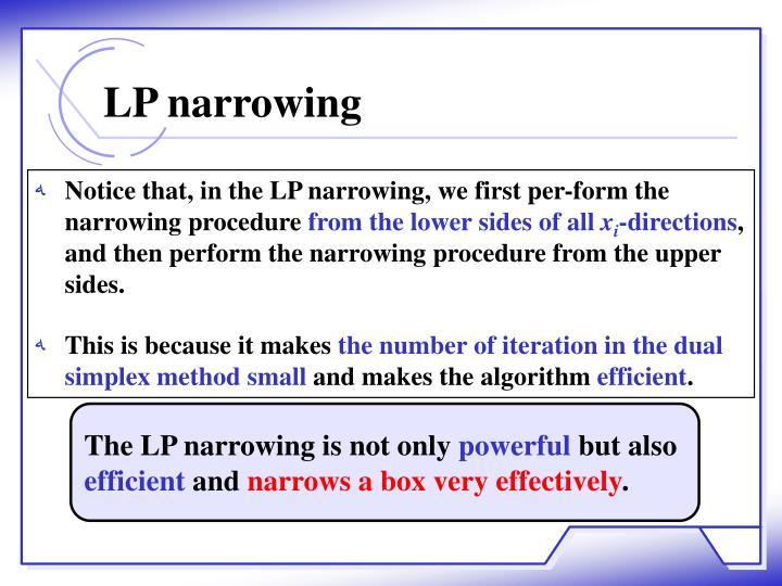 LP narrowing