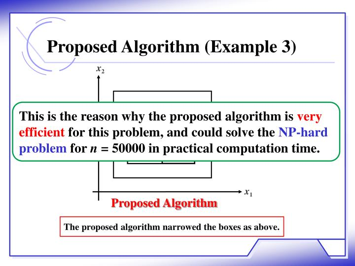 Proposed Algorithm (Example 3)