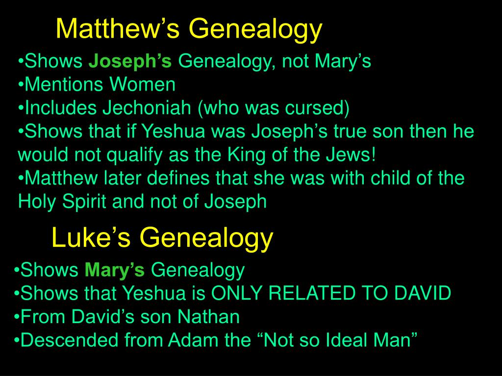 Matthew's Genealogy