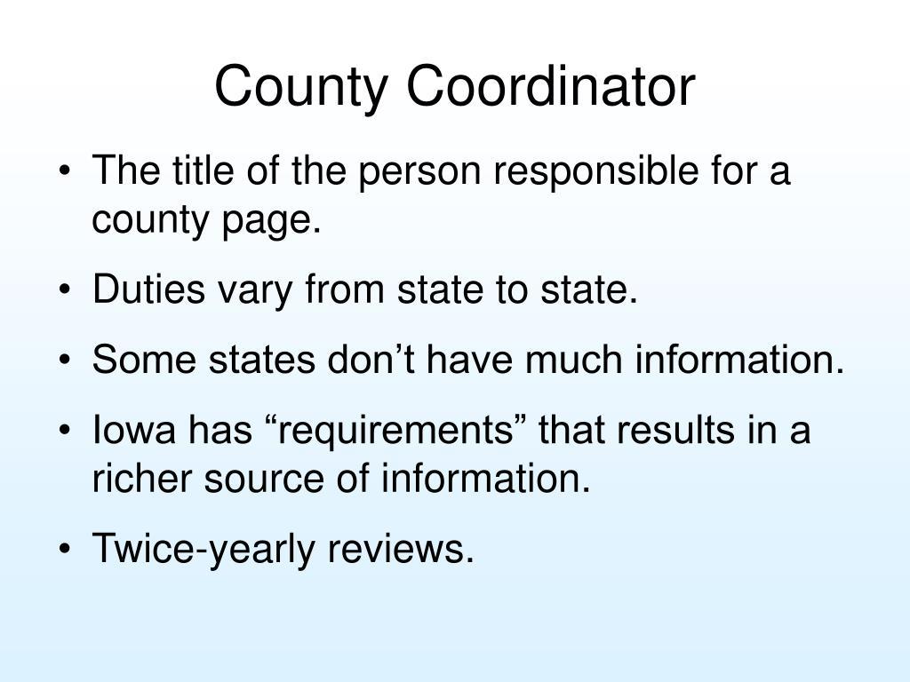 County Coordinator