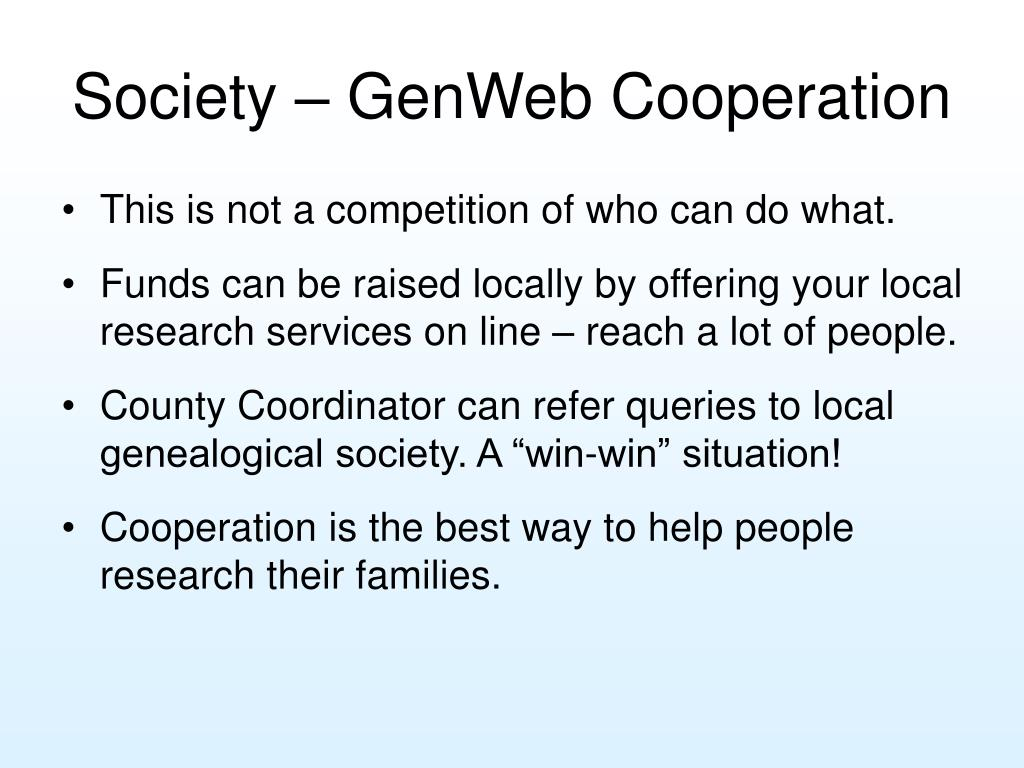 Society – GenWeb Cooperation