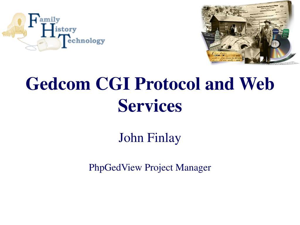 Gedcom CGI Protocol and Web Services