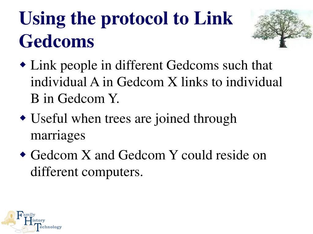 Using the protocol to Link Gedcoms