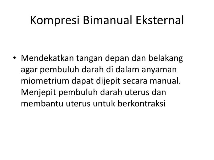 Kompresi Bimanual Eksternal