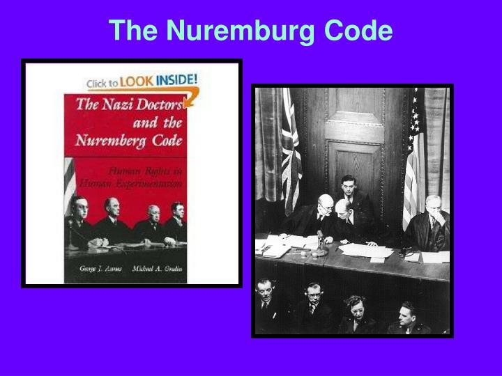 The Nuremburg Code