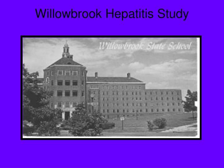 Willowbrook Hepatitis Study