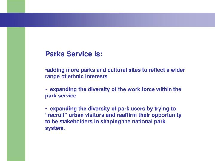 Parks Service is: