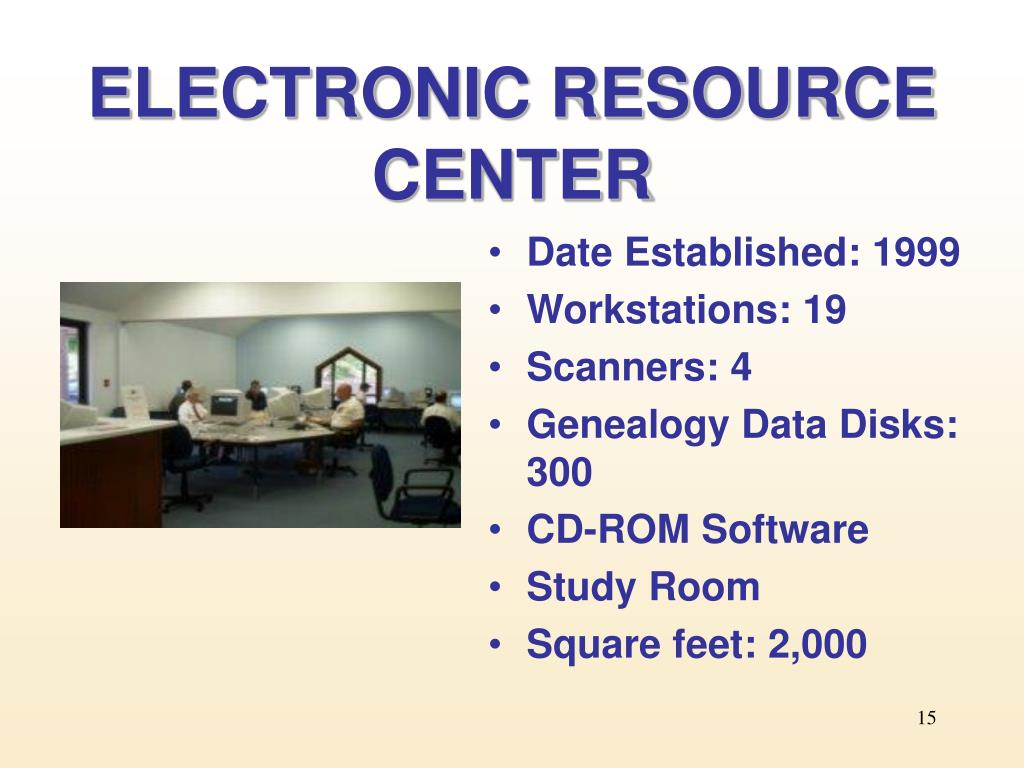 ELECTRONIC RESOURCE CENTER