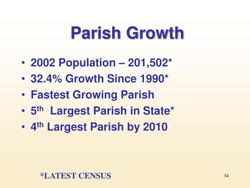 Parish Growth