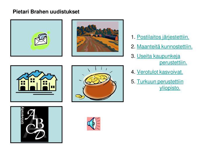 Pietari Brahen uudistukset