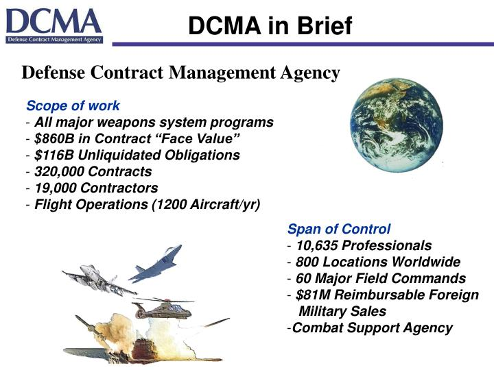 DCMA in Brief