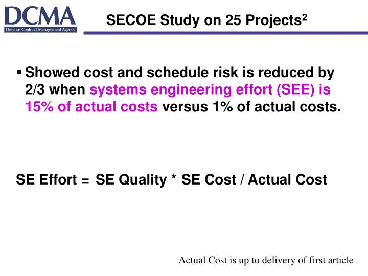 SECOE Study on 25 Projects
