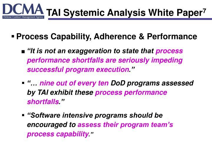 TAI Systemic Analysis White Paper