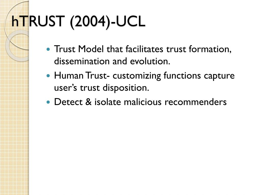 hTRUST (2004)-UCL