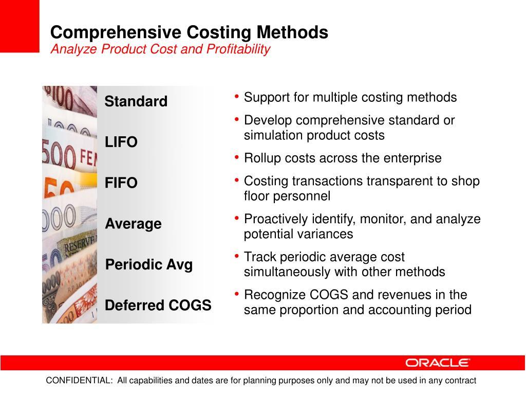 Comprehensive Costing Methods