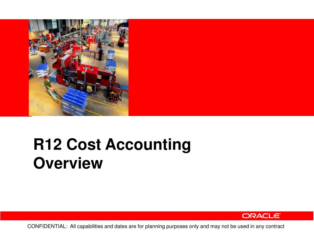 R12 Cost Accounting Overview