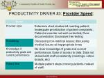 productivity driver 3 provider speed17