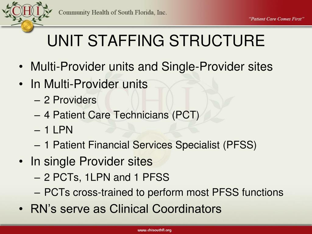 UNIT STAFFING STRUCTURE