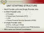 unit staffing structure
