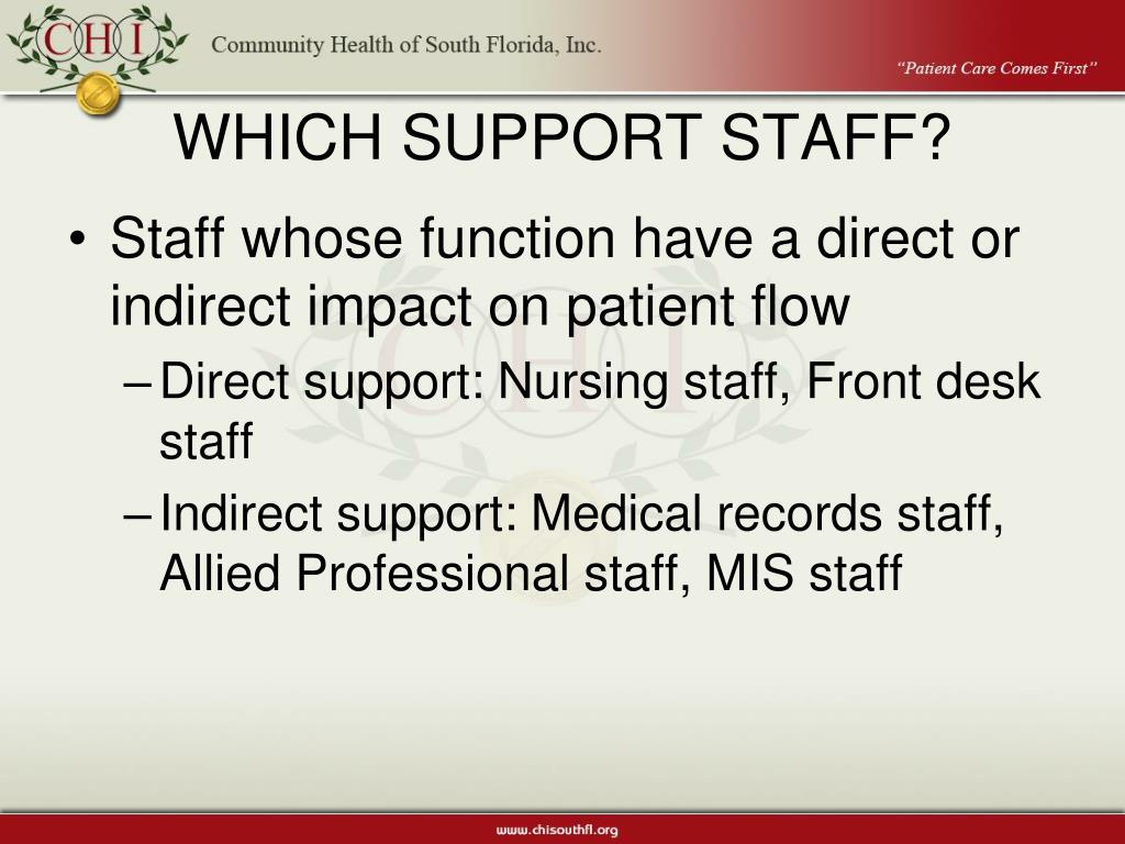 WHICH SUPPORT STAFF?