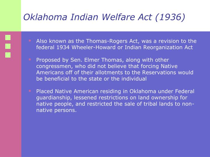 Oklahoma Indian Welfare Act (1936)