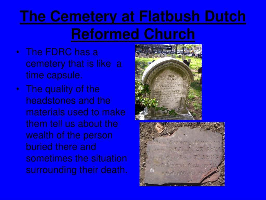 The Cemetery at Flatbush Dutch Reformed Church