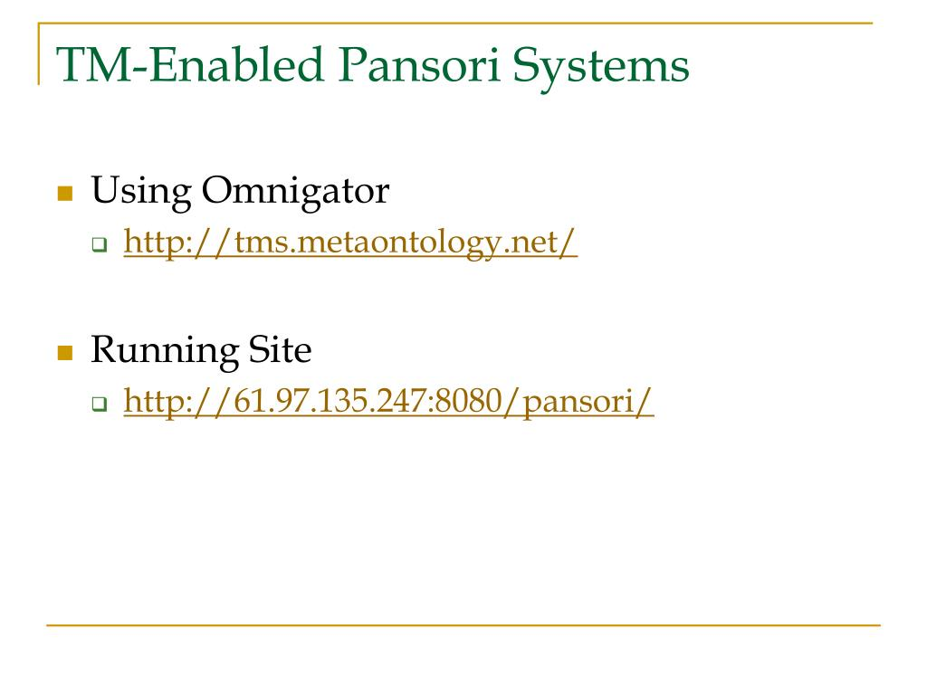 TM-Enabled Pansori Systems