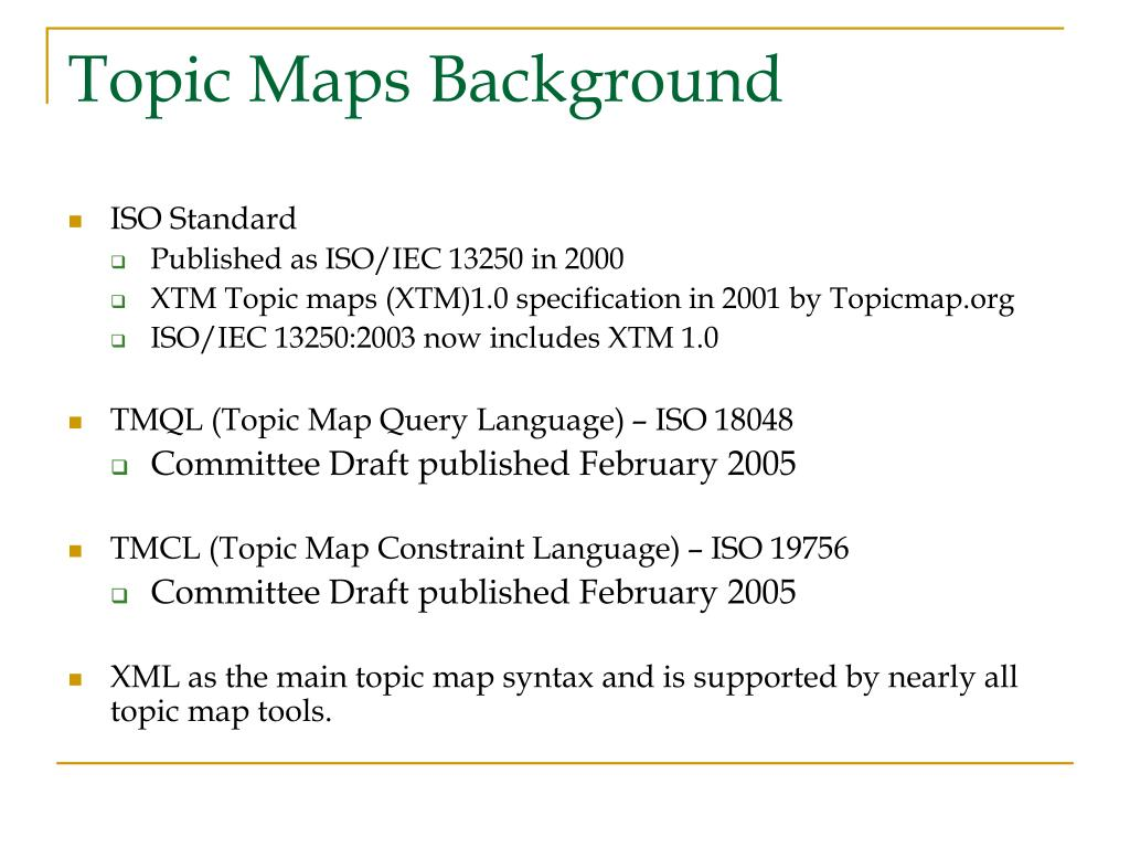Topic Maps Background
