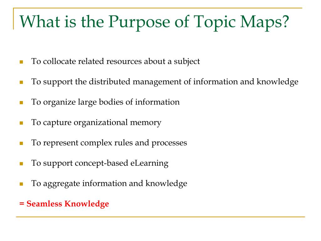 What is the Purpose of Topic Maps?