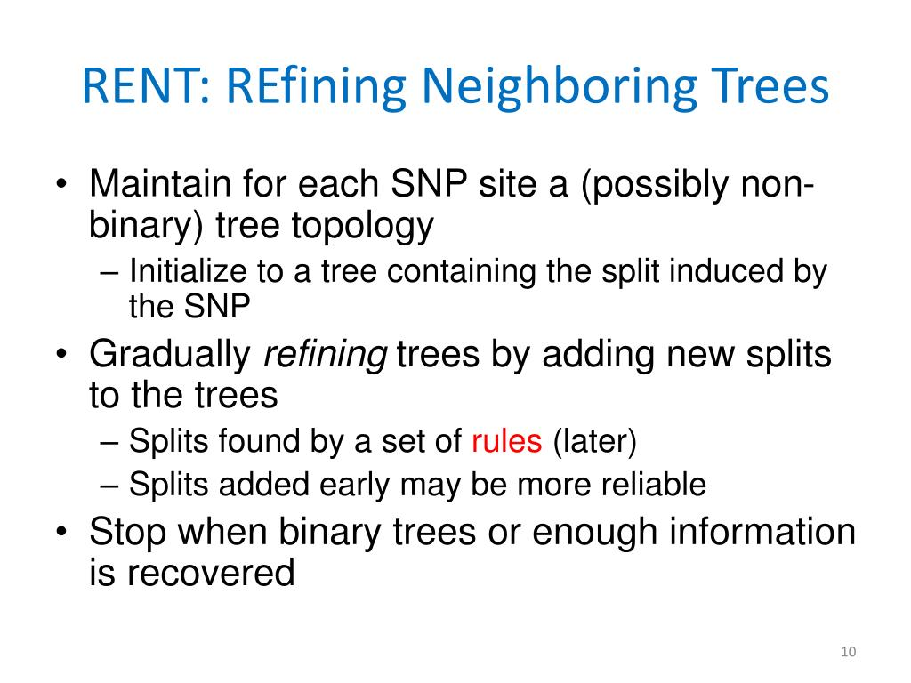 RENT: REfining Neighboring Trees