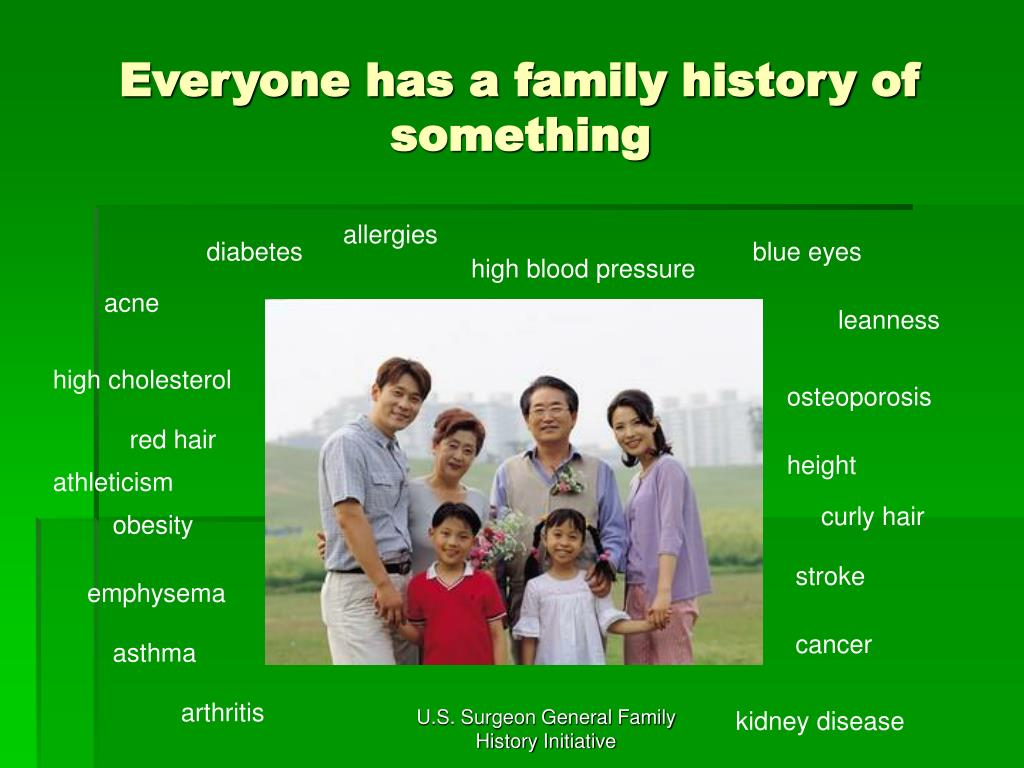 Everyone has a family history of something