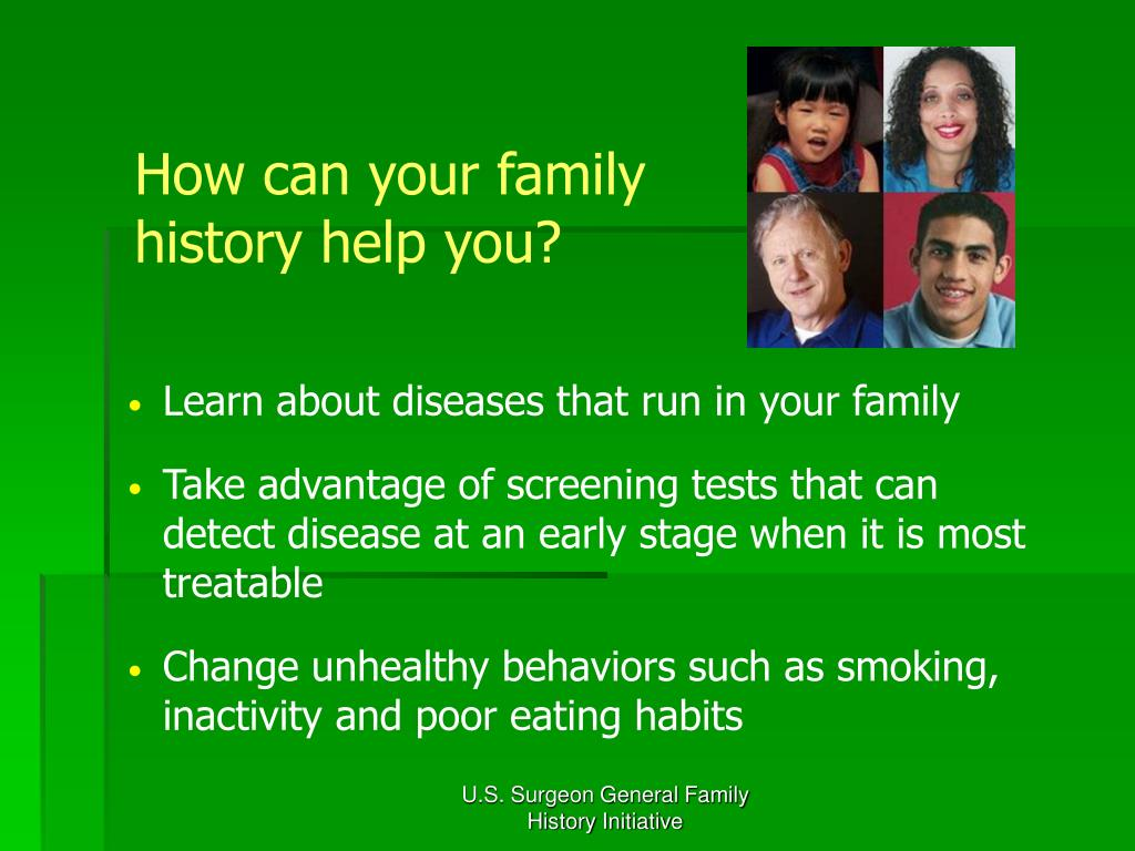 How can your family history help you?
