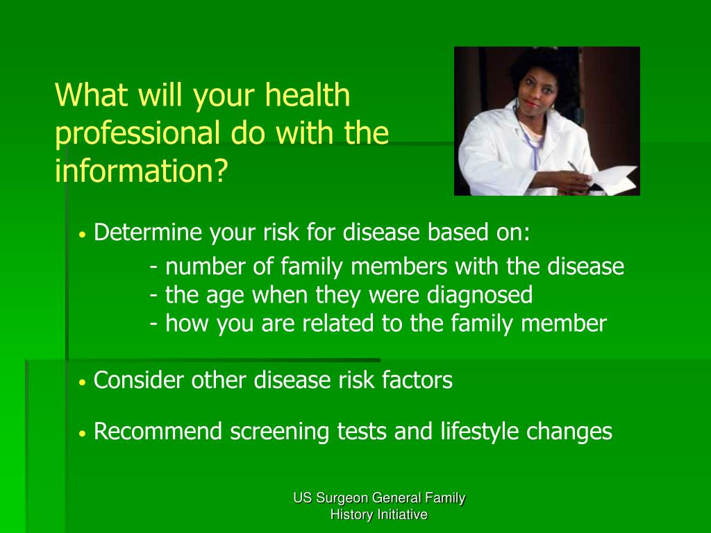 What will your health professional do with the information?