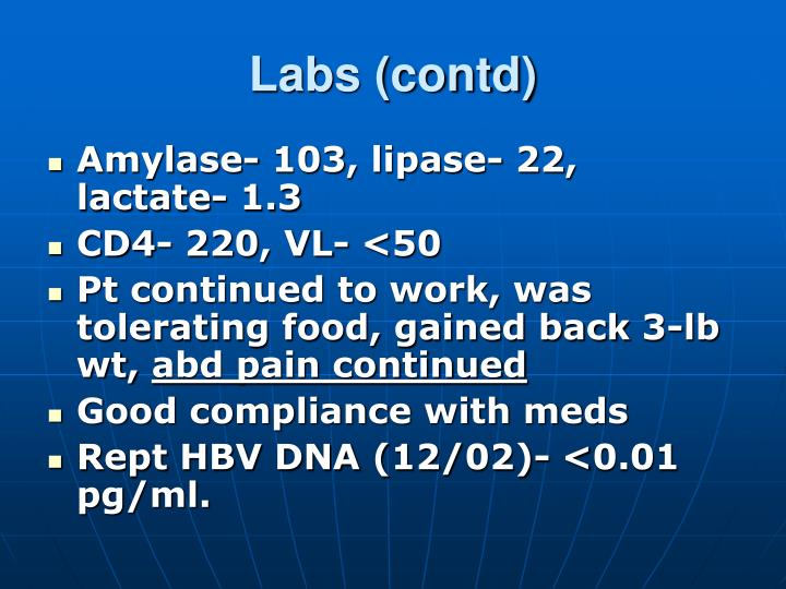 Labs (contd)