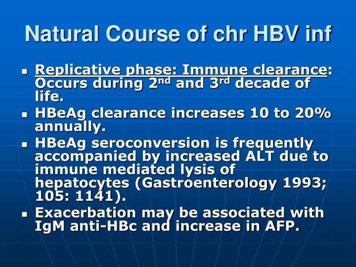 Natural Course of chr HBV inf