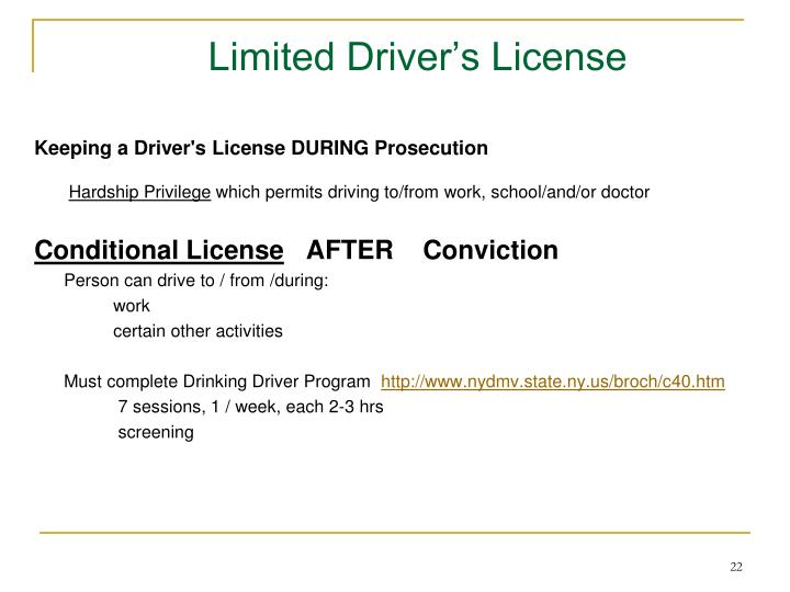 Limited Driver's License