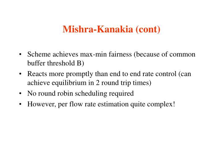 Mishra-Kanakia (cont)