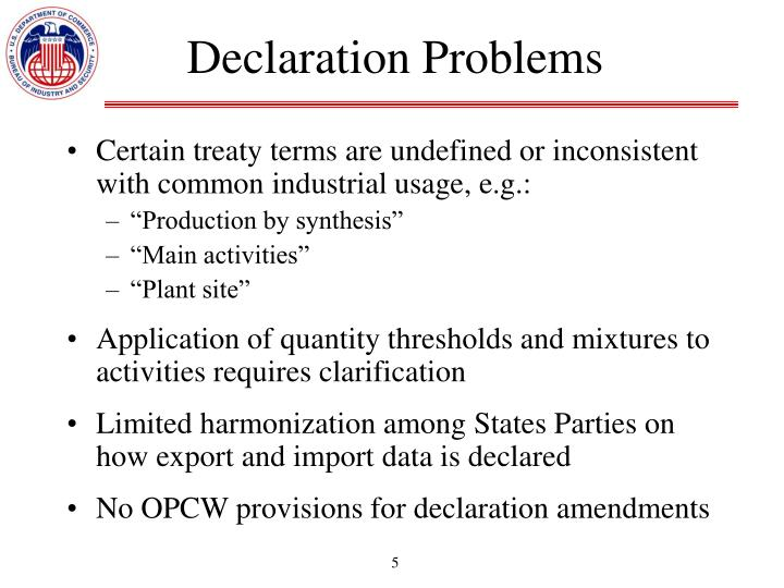 Declaration Problems